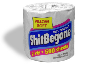 ShitBegone Toilet Paper is seeking a new home.